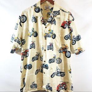 Pacific Legend motorcycle Hawaiian style shirt XL
